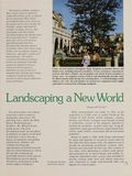 Landscaping a New World